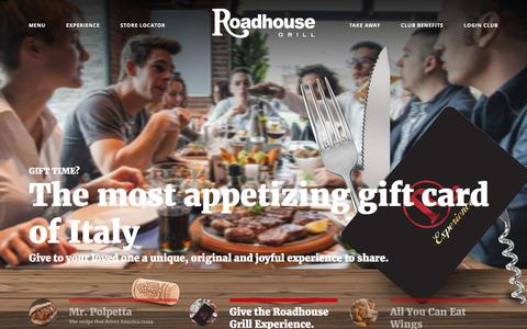 Screenshot of Home Page roadhousegrill.it - The grilled meat specialists  | Roadhouse Grill - captured Feb. 19, 2016