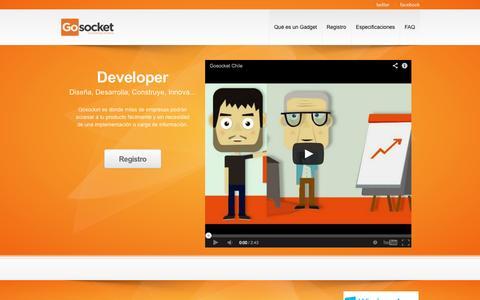 Screenshot of Developers Page gosocket.net - Gosocket Developer - captured Oct. 3, 2014