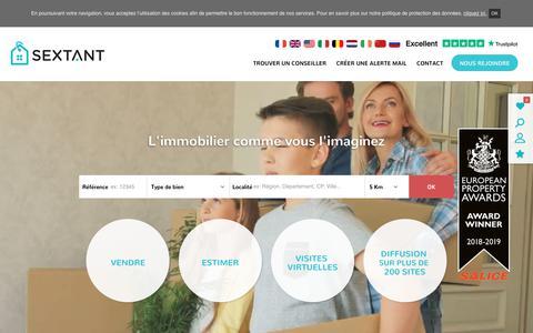Screenshot of Home Page sextantfrance.fr - Sextant France | Réseau de mandataires immobiliers - captured Nov. 7, 2018