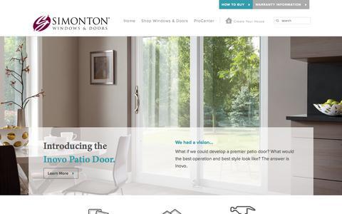 Screenshot of Home Page simonton.com - Vinyl Replacement Windows & Doors   Simonton Windows & Doors - captured Jan. 28, 2016