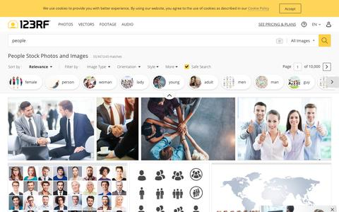 Screenshot of Team Page 123rf.com - People Stock Photos And Images - 123RF - captured July 9, 2019