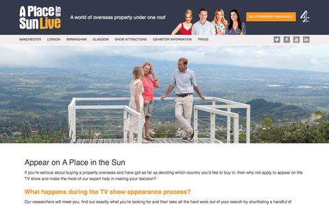 Apply to Appear on A Place in the Sun