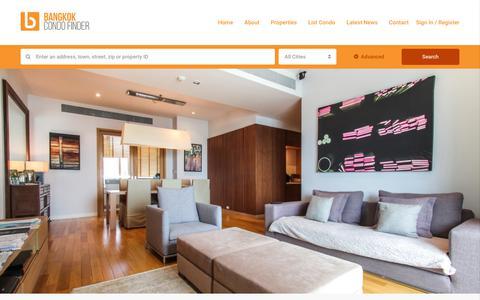 Screenshot of Home Page bangkokcondofinder.com - Huge Range Of Condos! | Bangkokcondofinder.com - captured Nov. 6, 2018