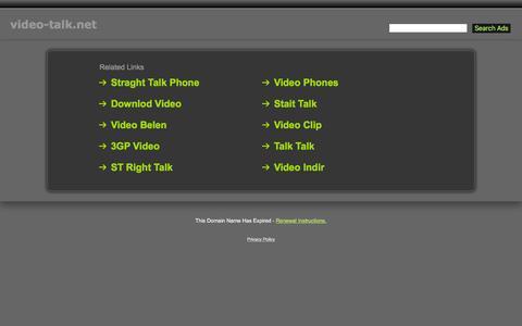 Screenshot of Home Page video-talk.net - Video-Talk.net - captured March 17, 2016