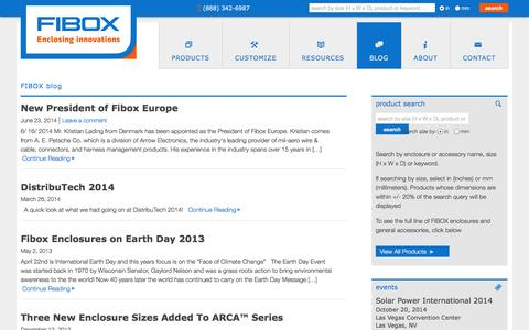 Screenshot of Blog fiboxusa.com - Blog   Fibox - captured Oct. 4, 2014