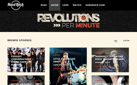 Listen – Hard Rock presents Revolutions Per Minute