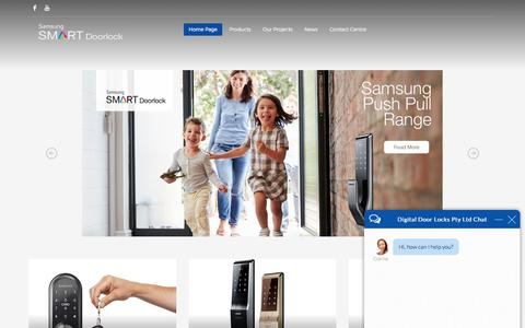 Screenshot of Home Page digitaldoorlocks.com.au - Range of Digital Door Locks, Video Intercom, Intercoms Systems - captured Oct. 12, 2017