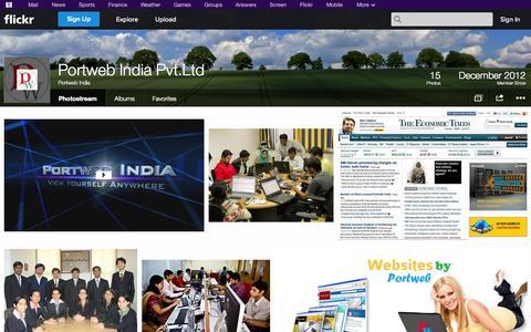 Screenshot of Flickr Page flickr.com - Flickr: Portweb India's Photostream - captured Oct. 27, 2014