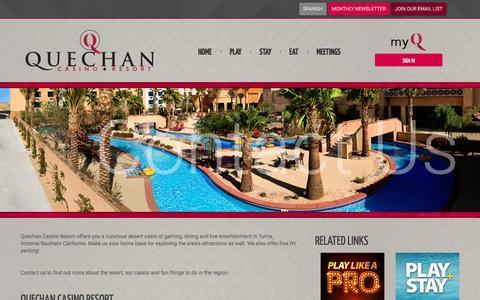 Screenshot of Contact Page playqcr.com - Visit Quechan Casino Resort - Yuma, Arizona - captured Nov. 14, 2016