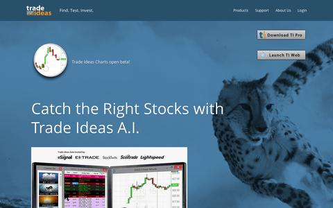 Screenshot of Home Page trade-ideas.com - TRADE IDEAS: Powerful Real-Time market Intelligence - captured Oct. 15, 2015