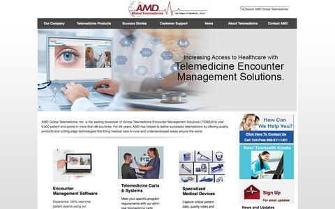 Screenshot of Home Page amdtelemedicine.com - Telemedicine Equipment and Telehealth Technology - AMD Global Telemedicine - captured Oct. 7, 2017