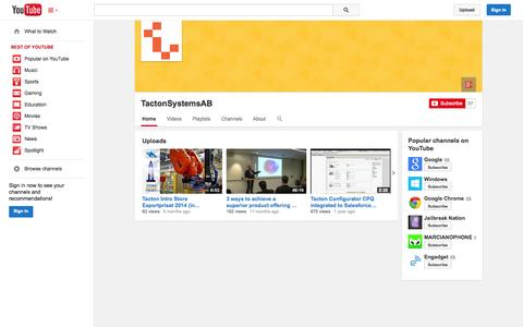 Screenshot of YouTube Page youtube.com - TactonSystemsAB  - YouTube - captured Oct. 26, 2014