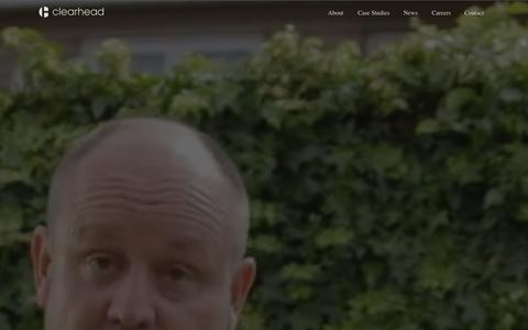 Screenshot of Case Studies Page weareclearhead.com - Clearhead | Work - captured Oct. 2, 2014
