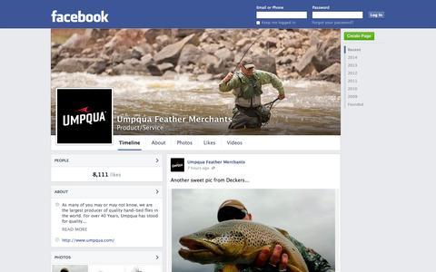 Screenshot of Facebook Page facebook.com - Umpqua Feather Merchants | Facebook - captured Oct. 23, 2014