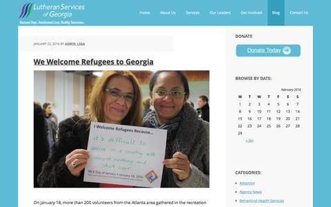 Screenshot of Blog lsga.org - Blog - captured Feb. 2, 2016