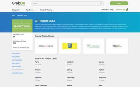 All Product Deals - GrabOn
