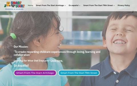 Screenshot of Home Page smartfromthestart.net - Home - Smart From The Start - captured Oct. 18, 2018