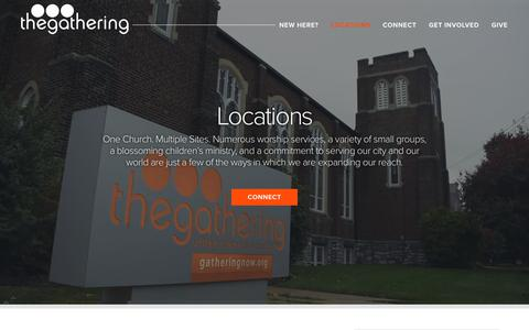 Screenshot of Locations Page gatheringnow.org - Locations - The Gathering - captured Oct. 18, 2018
