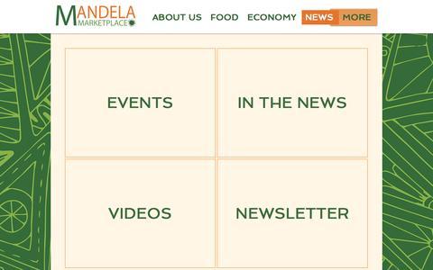 Screenshot of Press Page mandelamarketplace.org - Mandela MarketPlace | NEWS - captured May 28, 2017