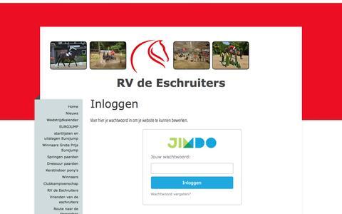 Screenshot of Login Page eschruiters.nl - Inloggen - De website van eschtest! - captured Jan. 24, 2016