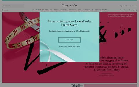 Screenshot of Home Page tiffany.com - Home | Tiffany & Co. - captured Jan. 13, 2016