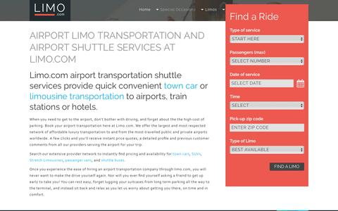 Airport Limos and Airport Transportation Shuttle Services   Limo.com