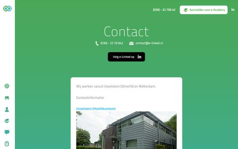 Screenshot of Contact Page e-linked.nl - Contact | e-Linked - captured Dec. 14, 2015