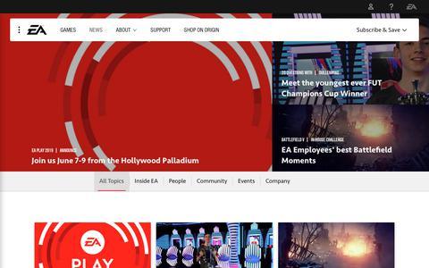 Screenshot of Press Page ea.com - EA Latest News - Official EA Site - captured March 8, 2019