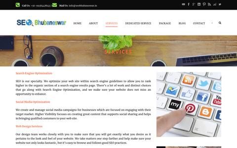 Screenshot of Services Page seobhubaneswar.in - Best Internet Marketing Services, Internet Marketing Company India | SEO Bhubaneswar - captured July 25, 2018