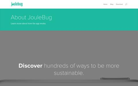 Screenshot of About Page joulebug.com - About - JouleBug - captured Sept. 30, 2014