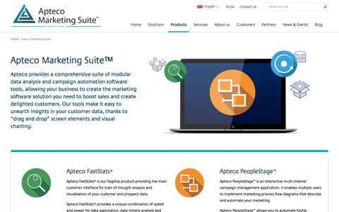 Screenshot of Products Page apteco.com - Marketing Data Analysis and Campaign Management Software | Apteco - captured Dec. 22, 2017