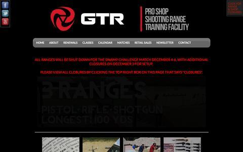 Screenshot of Home Page gainesvilletargetrange.com - Shoot GTR - captured Dec. 7, 2015