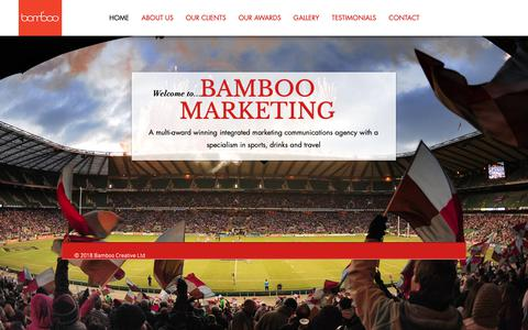 Screenshot of Home Page bamboomarcomms.co.uk - bamboo - captured Oct. 5, 2018