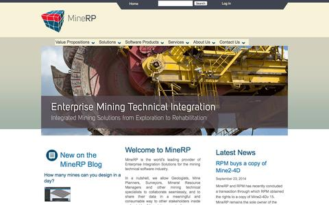 Screenshot of Services Page minerpsolutions.com - MineRP - captured Oct. 27, 2014