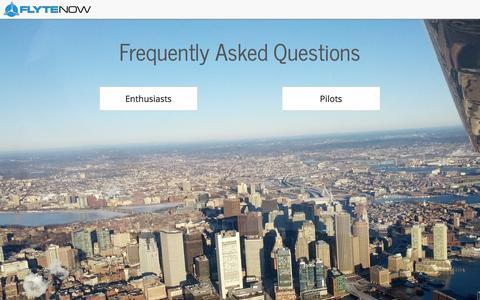 Screenshot of FAQ Page flytenow.com - FAQ - Flytenow - captured Nov. 4, 2014