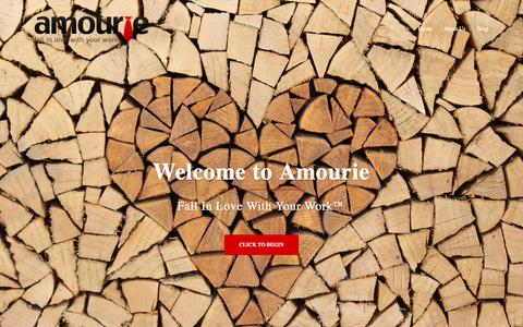 Screenshot of Home Page amourie.com - Amourie | Fall In Love With Your Work - captured Oct. 3, 2018
