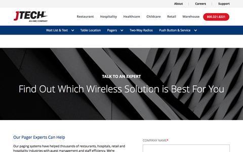 Screenshot of Contact Page jtech.com - Contact Us - captured May 12, 2017
