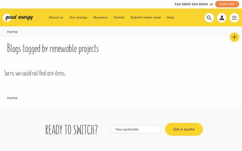 Screenshot of Blog goodenergy.co.uk - Blogs | Good Energy - captured April 7, 2017