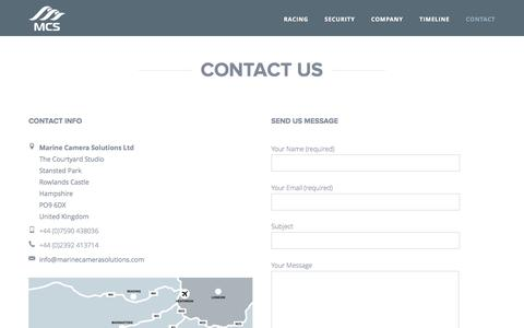 Screenshot of Contact Page marinecamerasolutions.com - Marine Camera Solutions – Contact Us 2 - captured Feb. 4, 2016