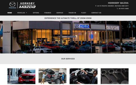 Screenshot of Home Page hornsbymazda.com.au - Hornsby Mazda   Mazda Dealer Waitara - captured July 22, 2018