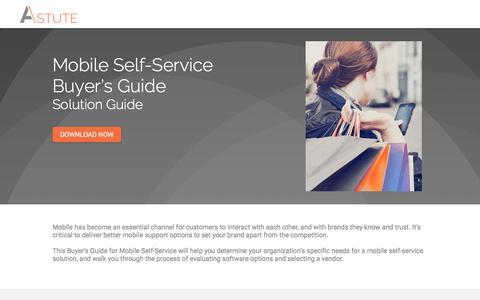 Screenshot of Landing Page astutesolutions.com - Mobile Self-Service Buyer's Guide - captured Sept. 19, 2018