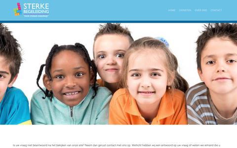 Screenshot of Contact Page sterkebegeleiding.nl - Contact- Sterke Begeleiding | Voor sterker onderwijs - captured Nov. 6, 2017