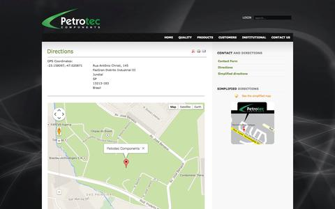 Screenshot of Maps & Directions Page petroteccomponents.com.br - Directions - captured Sept. 29, 2014
