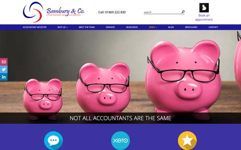 Screenshot of Press Page bambury.info - News - Bambury & Co - Accountants in Oxfordshire - captured Oct. 5, 2018