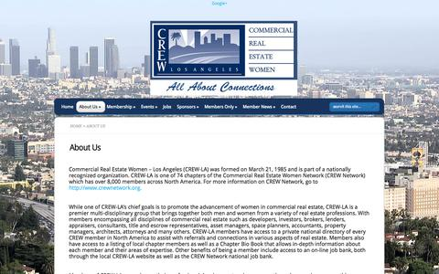 Screenshot of About Page crewla.org - About Us | CREW-LA  - Commercial Real Estate Women - captured Oct. 3, 2014