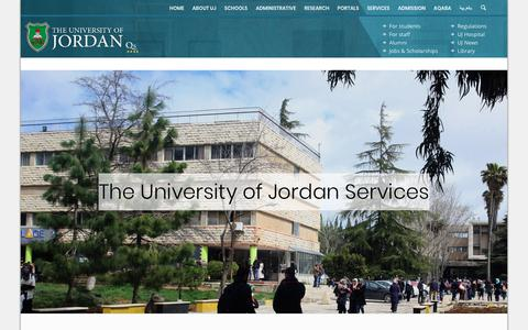 Screenshot of Services Page ju.edu.jo - Services - captured Oct. 20, 2018