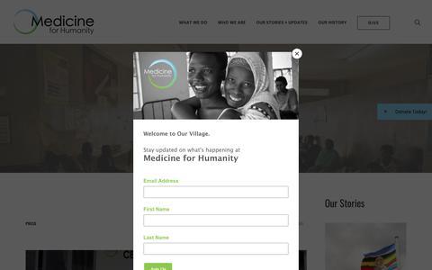 Screenshot of Press Page medicineforhumanity.org - Press Archives | Medicine for Humanity - captured Nov. 6, 2018
