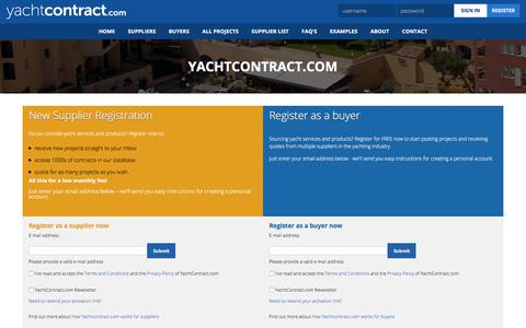 Screenshot of Signup Page yachtcontract.com - YachtContract.com - captured July 27, 2018
