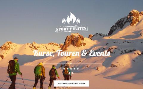 Screenshot of Home Page sport-piraten.de - Sport-Piraten GmbH - Kurse, Touren + Events - captured Jan. 26, 2015