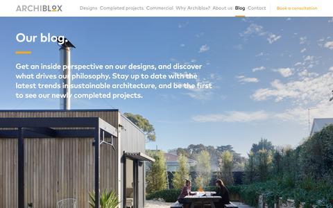 Screenshot of Blog archiblox.com.au - Blog - Archiblox - captured Oct. 8, 2017
